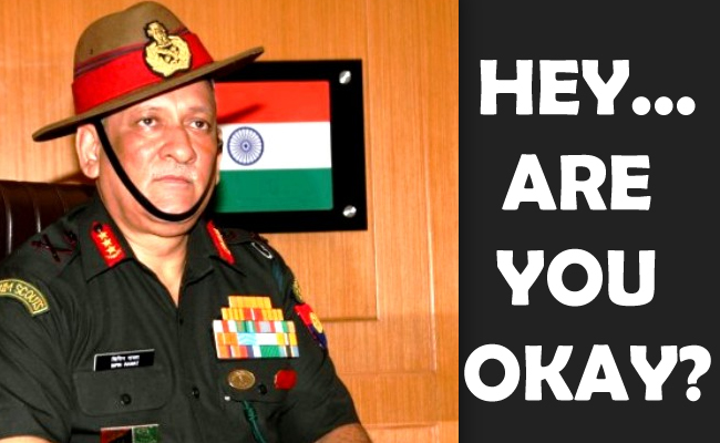 Frustrated Indian Army Chief Bipin Rawat threatens Nepal