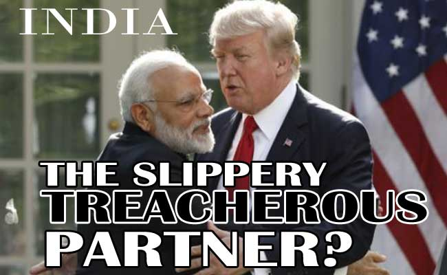 India: Not a trusted partner of US!