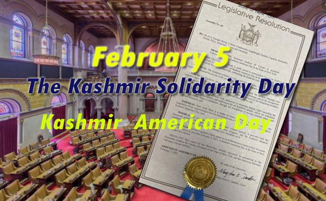 NY State Assembly: The Kashmir America Day!